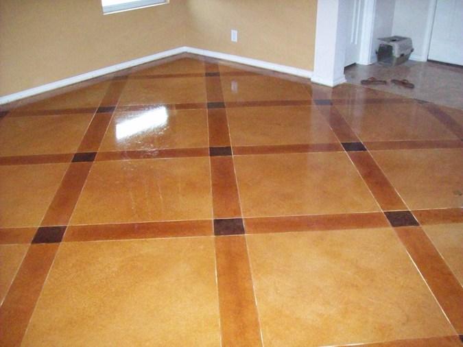 Concrete Floor Patterns : Concrete scoring longhorn epoxy floors